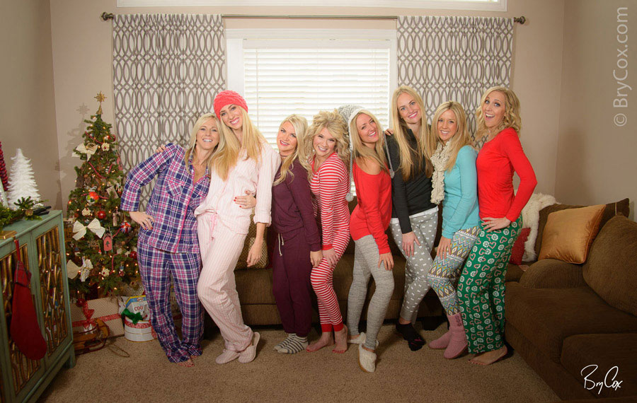 these friends of mine had a fun pajama party together and had me over to create some photographs we hammed it up with a lot of fun photos and a pillow - Christmas Pajama Party